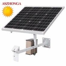60 W 30 W Câmera IP Painel Solar DC12V 20A 30A 40A Bateria De Lítio para 3G 4G Wireless WI FI Cartão SIM Solar CCTV Câmeras de Segurança