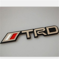 Aluminum Alloy 3D Auto TRD Emblem Badge Sticker For REIZ CAMRY COROLLA Yaris