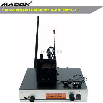 free shipping, ew300iemG3 UHF Stereo Wireless Monitor System 606.0-613.8MHz Professional Digital Stage In-Ear Monitor System