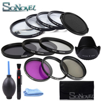 49 52 55 58 62 67 72 77 MM Macro Close up Filter +1+2+4+10 Set+ UV CPL FLD ND 2 4 8 Camera Lens Filter+Lens Cap for Canon Nikon