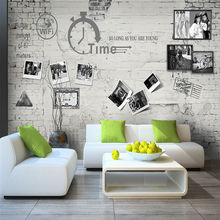 Custom wallpaper mural retro nostalgic brick wall photo bedroom living room wall - high-grade waterproof material цена 2017