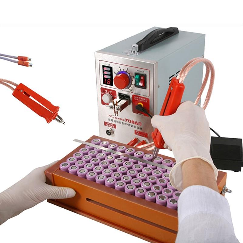 SUNKKO 709AD Spot machine de soudage 2.2KW Haute puissance numérique affichage mobile à souder 18650 batterie pack de produits Impulsion soudeuse