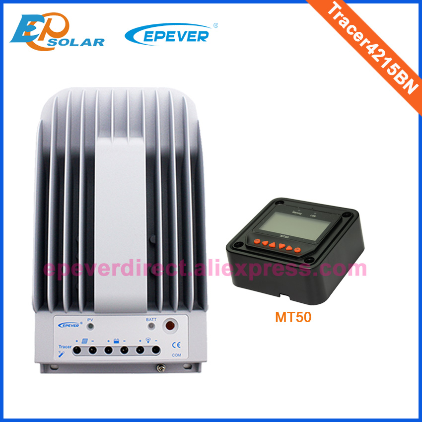MPPT controller high efficiency solar regulator Tracer4215BN 12V 24V auto work MT50 Meter lcd display 40A 40amps