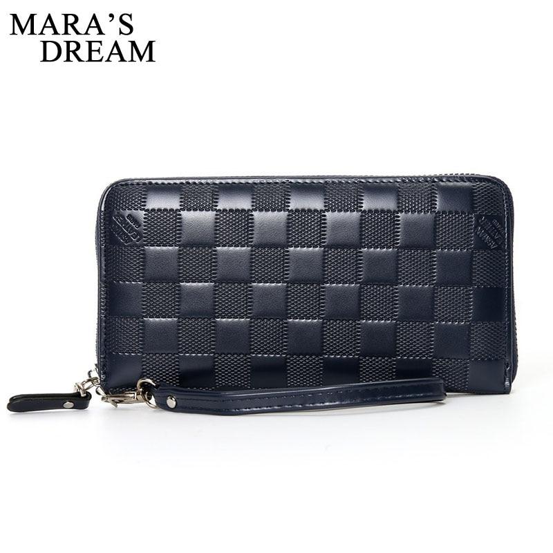 Maras Dream 2018 Luxury Men Wallets Long Men Purse Wallet Male Clutch PU Leather Zipper Wallet Men Business Male Wallet Coin