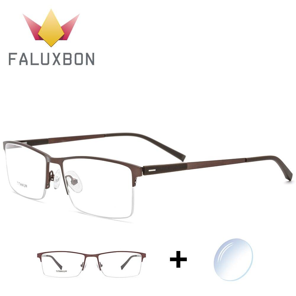 Halb Randlose Tr90 Brillen Männer Titan Legierung Optische Brillen Hohe Qualität Anti Blau Licht Myopie Brille Neue Angenehm Bis Zum Gaumen Herren-brillen