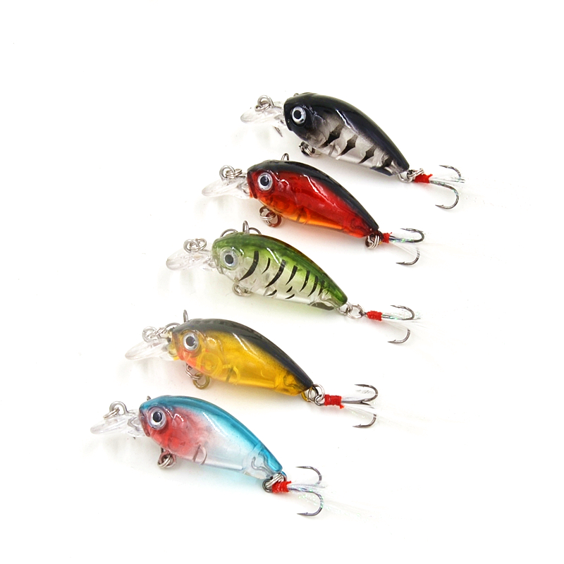 3.6cm 4g Fishing Wobblers with Feather Mini Crankbait Fishing Lure Crank Bait Hard Plastic Artificial Fishing Lures CB028 14g 10cm crankbait fishing wobblers hard fishing tackle swim bait crank bait bass troll fishing lures 10 colors pike perch