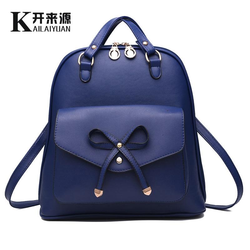 Qianyiyuan 2016 leather backpack bag bag brand teen girls high quality bag backpack backpack every day