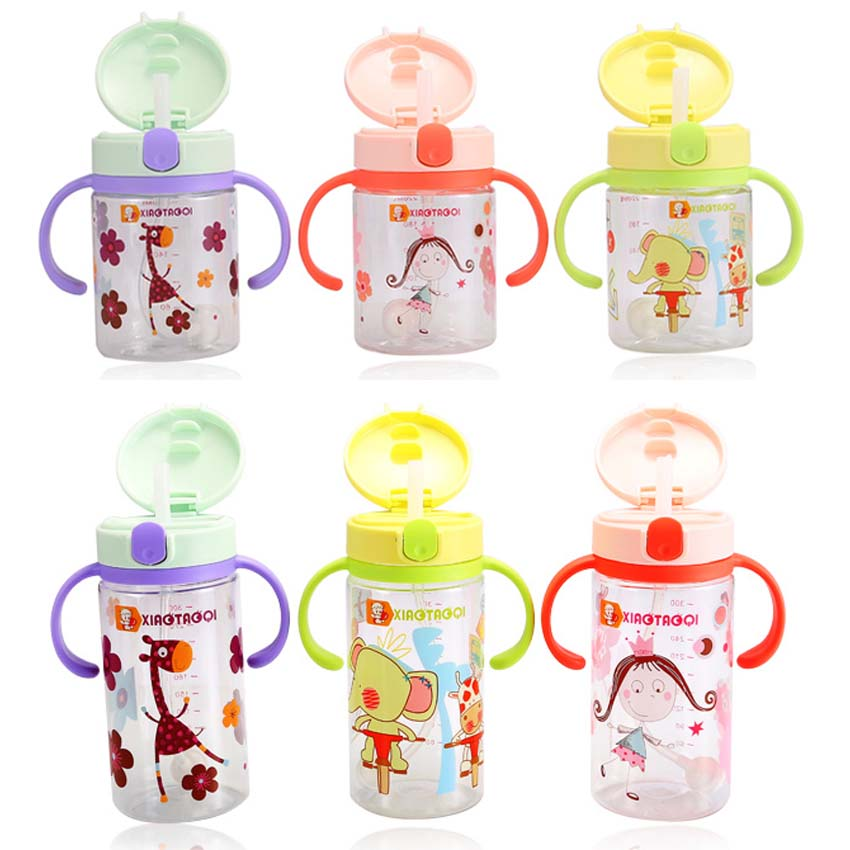US $2 75 31% OFF|330ml Baby Cups Kids Safe PP Straw Cup BPA free Portable  Bottle Cartoon infant Drinking Water Bottle Training Cup-in Cups from  Mother