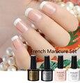 burano 7.3ml french manicure gel set nail art tips form uv gel polish  set diy nail tools nail arts kits sets