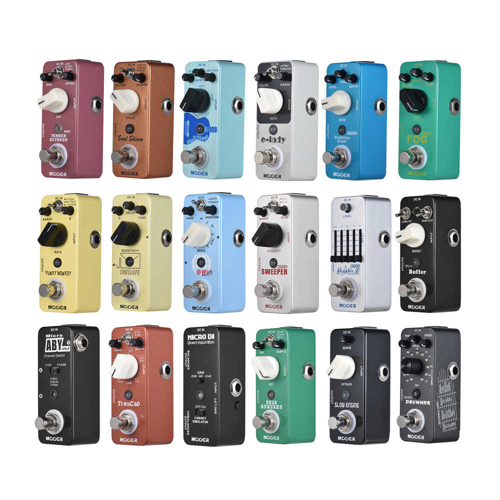 MOOER Guitar Effect Pedal Delay Overdrive Fuzz 28 Effects Guitar Pedal True Bypass Full Metal Shell Guitar Accessories
