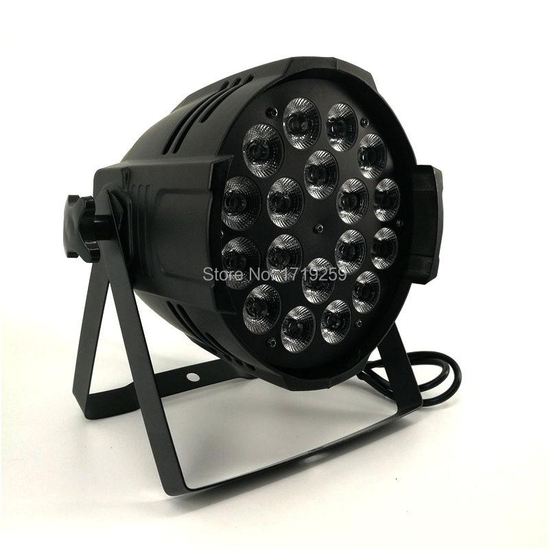 2pcs lot LED Par 18x15W RGBWA Light DMX Stage Lights Business Lights Professional Par Can for