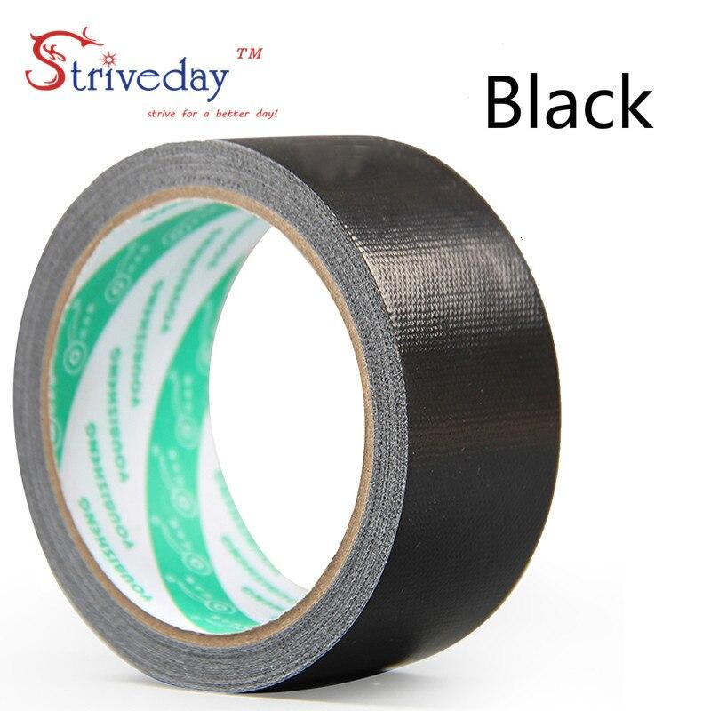 1 шт. 60 мм в ширину и 10 м цветная тканевая основа лента односторонняя сильная Водонепроницаемая без следа высокая вязкость ковер лента DIY - Цвет: Black