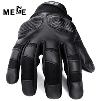 MEGE Brand Military Army Tactical Gloves Carbon Motorcycle Full Finger Leather Gloves Outdoor Sports Hiking Camping