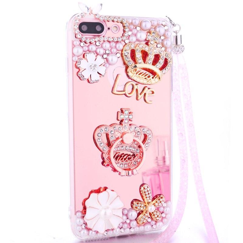 Для iphone7 4.7 дюймовый корпус блеск зеркало телефона Чехол для iphone7 4.7 дюймов Роскошные Алмаз чехол для Обувь для девочек Для женщин крышка