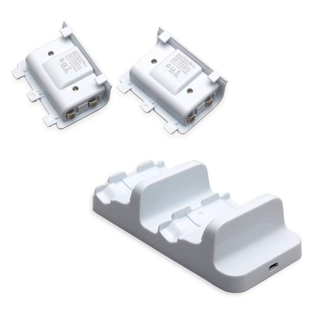 Para Xbox One S Carregador Duplo Doca Estação de Carregamento com 2 Packs de Bateria e Cabo de Carregamento USB para Xbox Um controlador sem fio