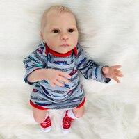 46 см Reborn baby силиконовые куклы эксклюзивная Кукла Коллекция для детей подарок новорожденных мальчиков bebes menino