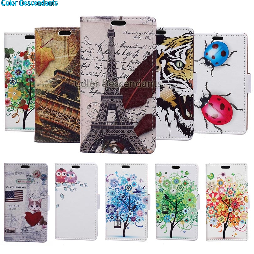 For Wiko SUNNY 2 Plus Case Blue Tree Leather Wallet Flip Coque Cover Wiko Sunny 2 Plus Sunny2 Plus 5.0 Mobile Phone Cases Funda