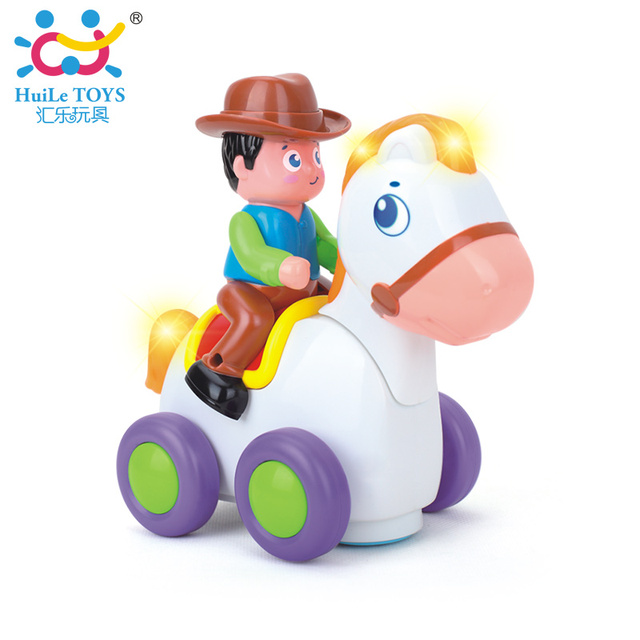 Baby Light Up Toys Electrical Horserace Toys for 18-month-baby Body Development Toys Best Gifts 838A Happy Racing Horse