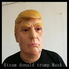 100% Latex Famous Celebrity Funny Party Cosplay Human Mask Props Donald Trump Mask Overhead Latex Masks in stock Free Shipping