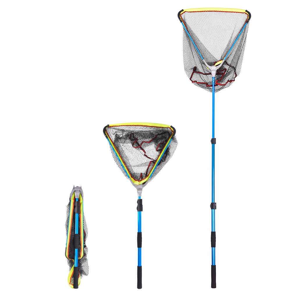 LEO 200cm / 79 pulgadas telescópico aluminio pesca red de aterrizaje Red de peces con extensible telescópico Pole Handle equipo de pesca de carpa