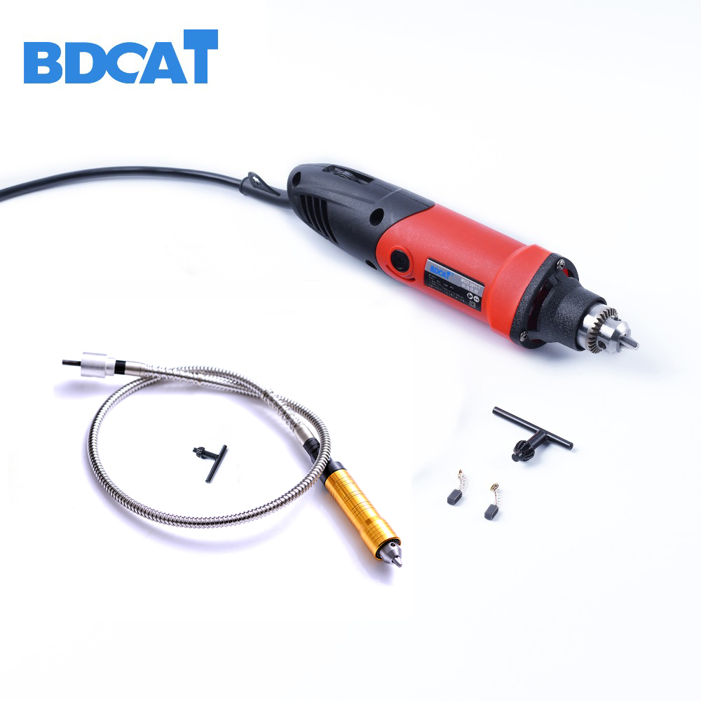 400W 220V BDCAT Dremel Accessories Variable Speed Electric Mini Drill Die Grinder with 6mm Rotary Grinder Tool Flexible Shaft tasp 220v 130w electric dremel rotary tool variable speed mini drill with flexible shaft and 175pc accessories storage bag