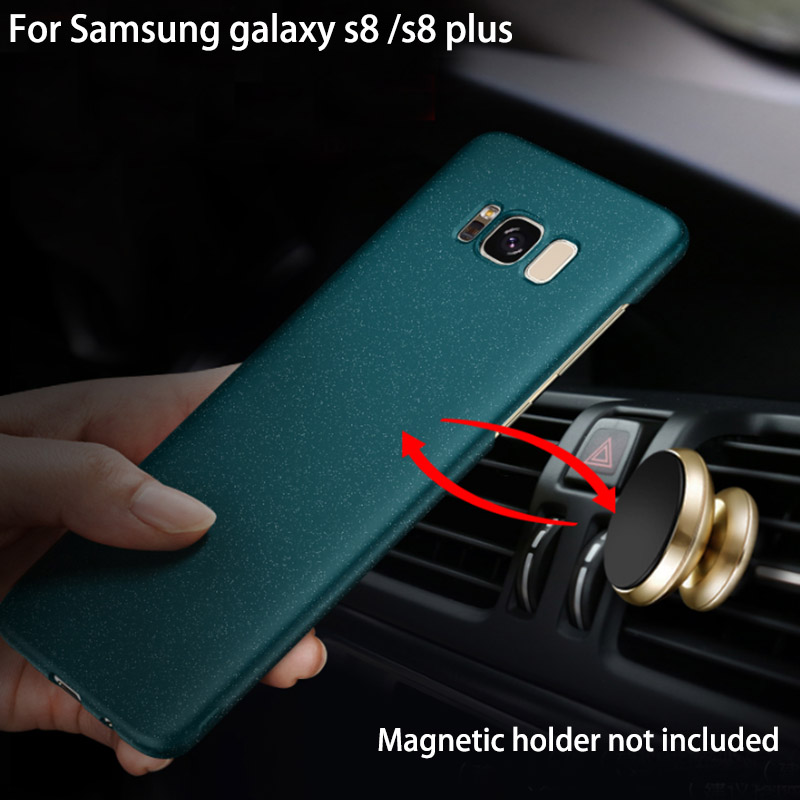 For <font><b>Samsung</b></font> <font><b>galaxy</b></font> s8 Matte Case Original AIXUAN <font><b>Full</b></font> Protective Car Holder Magnetic Cover For <font><b>Samsung</b></font> s8 plus with metal plate