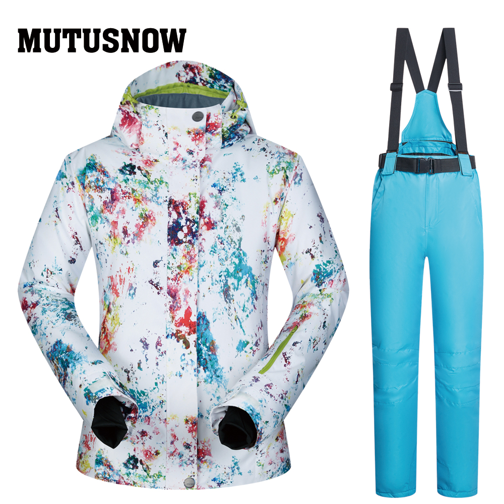 Ski Suits Women Brands Winter 2018 New Snow Female Windproof Waterproof Outdoor Sports Winter Skiing Snowboard Jackets And Pants winter snow clothing ski suits women snowboard pants skiing jackets keep warm waterproof female skiwear outdoor snoboarding