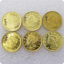 USA (1840-1865)-P, C, D, S 2.50 usd LIBERTY QUARTER EAGLE złote monety