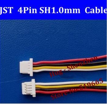Free shipping Micro JST SH 1.0mm Pitch 4Pin Female Connector with Wire 100mm both size 4 pin jst --500pcs /lot