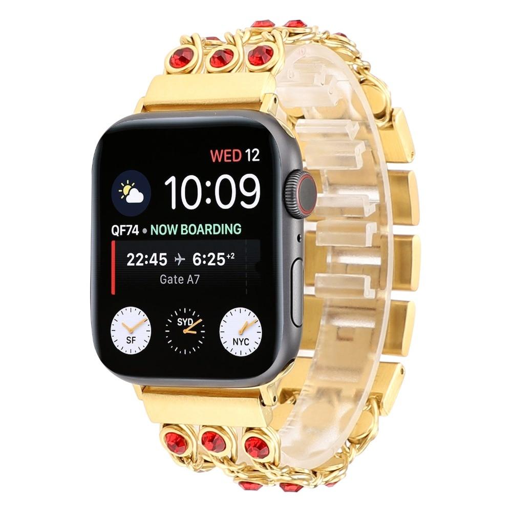 Apple Watch Band Bling Crystal Rhinestone Diamond Stainless Steel Link Bracelet Strap Series 1 2 3 4 Iwatch 44Mm/ 40Mm/ 42Mm/ 38Mm