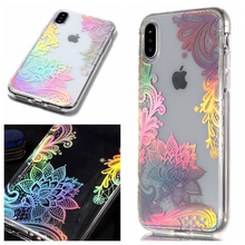 Fashion Aurora Laser Style Phone Soft TPU IMD Silicone Cover Case Shell Coque Fundas Hull for Apple iPhone X XS MAX 6.5 XR 6.1