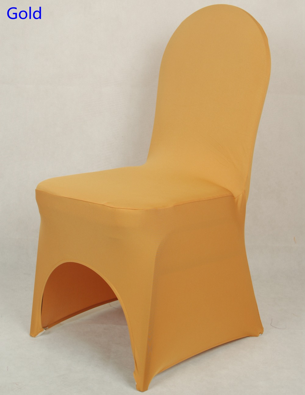Gold Colour chair covers spandex chair covers china