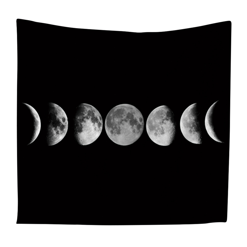 Eclipse Tapestry Moon Night Plays Beach Blanket Beach Towel Travel Picnic Quick Dry Beach Towel Tapestry Wall 150cmx130cm