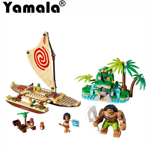 [Yamala] Princess Moana Ocean Voyage Building Blocks Classic Friends for Girl Kids Toys Compatible with legoingly princess ponies 6 best friends for ever