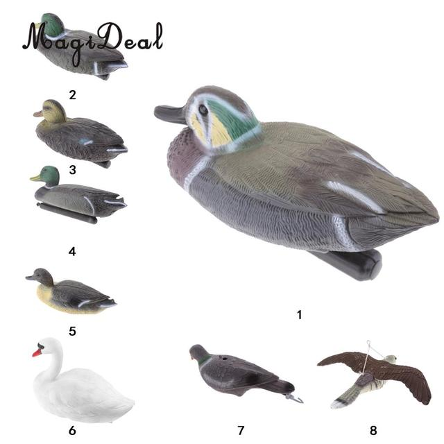 Magideal Plastic Mallard Wigeon Floating Swan Duck Decoy For Outdoor Camping Fishing Hunting Tactical