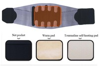 Women Men Medical Lower Back Waist Brace Belt Spine Posrure Support Belts Breathable Lumbar Corset Orthopedic 3 pcs Gaskets