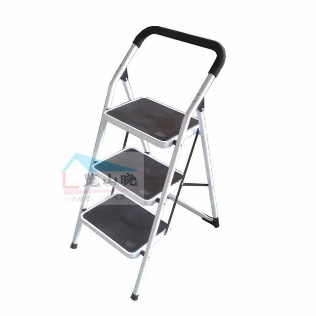 Household Ladder Folding Ladder Thick Mobile Small Stairs Word Ladder Ladder  Load 150 Kg