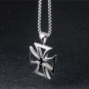 OBSEDE мужской крест Lucky Clover Титан 316L сталь подвеска, ожерелье, амулеты Серебристая цепочка Ожерелье Нежный лучший подарок ювелирные изделия