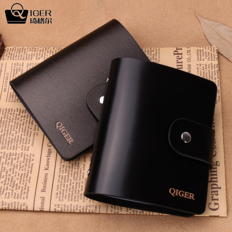 Qiger 40cards 100 genuine leather luxury women mens business qiger 40cards 100 genuine leather luxury women mens business card bag bank credit card id holders bag in card id holders from luggage bags on colourmoves