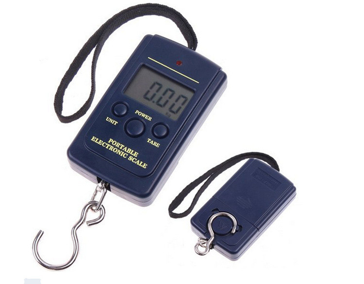 0 01g 40kg electronic Digital Hanging Luggage Fishing Weight Scale kitchen Scales in Weighing Scales from Tools