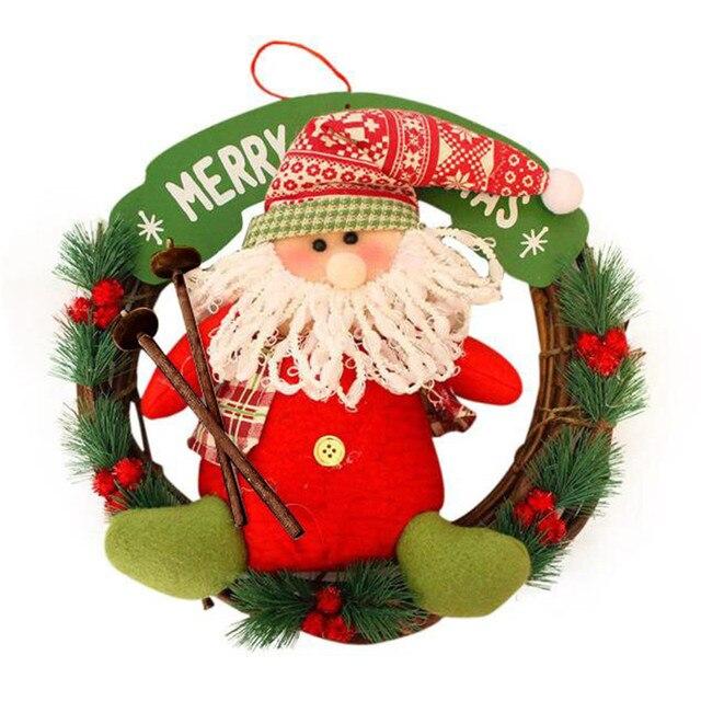 Zero 2017 Christmas Decor Xmas Door Wreath Garland Party Hanging B7725 Purchasing