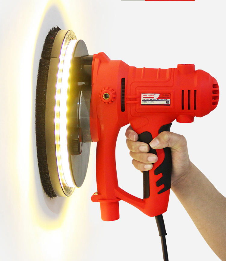 Hand & Power Tool Accessories Electric Putty Grinding Machine ,wall Clean Polishing Machine ,with Led Light Self-dusting Function