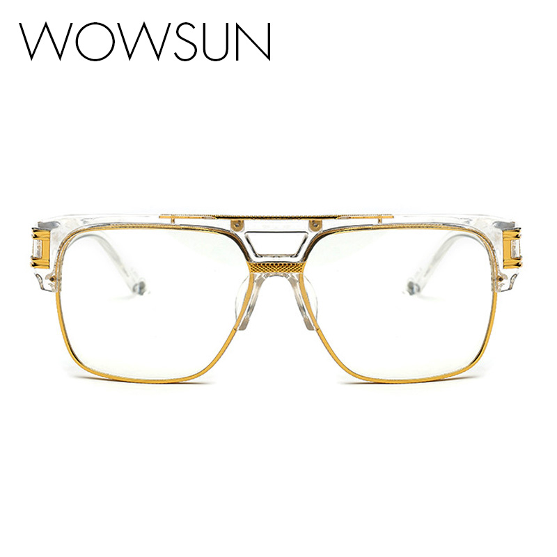 TOP Quality Men Brand Glasses frames Vintage Oversize ...