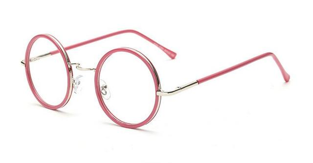 7cf2d6dc61184 5pcs lot 45mm Vintage Round Eyeglass Frames Tortoise Leopard Glass  Spectacles Retro UNI Optical Eyewear