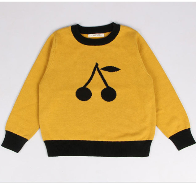 14ffeabcb Hot Sale Fashion Print Cotton O neck Knit Sweater Baby Children s ...