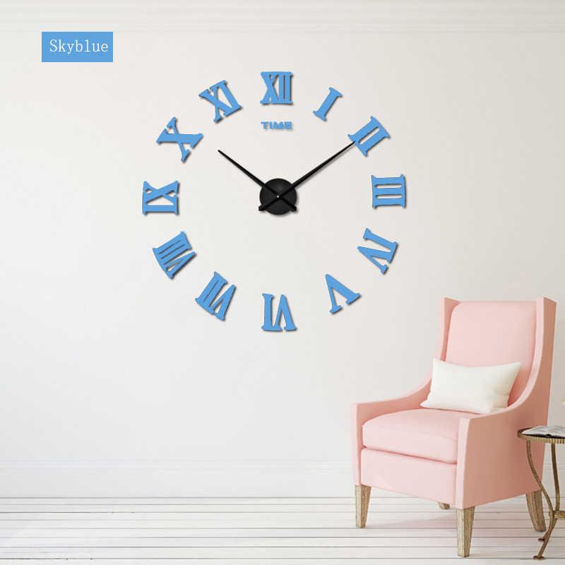 2019 neue Ankunft Quarz Uhren Mode Uhren 3D Echt Große Förderung Wohnkultur Große Römischen Spiegel Mode Moderne Wanduhr