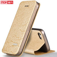 Mofi Original For Iphone 5s Girl Leather Flip Cover SE Ultra Thin Silicon Leather Case Cover