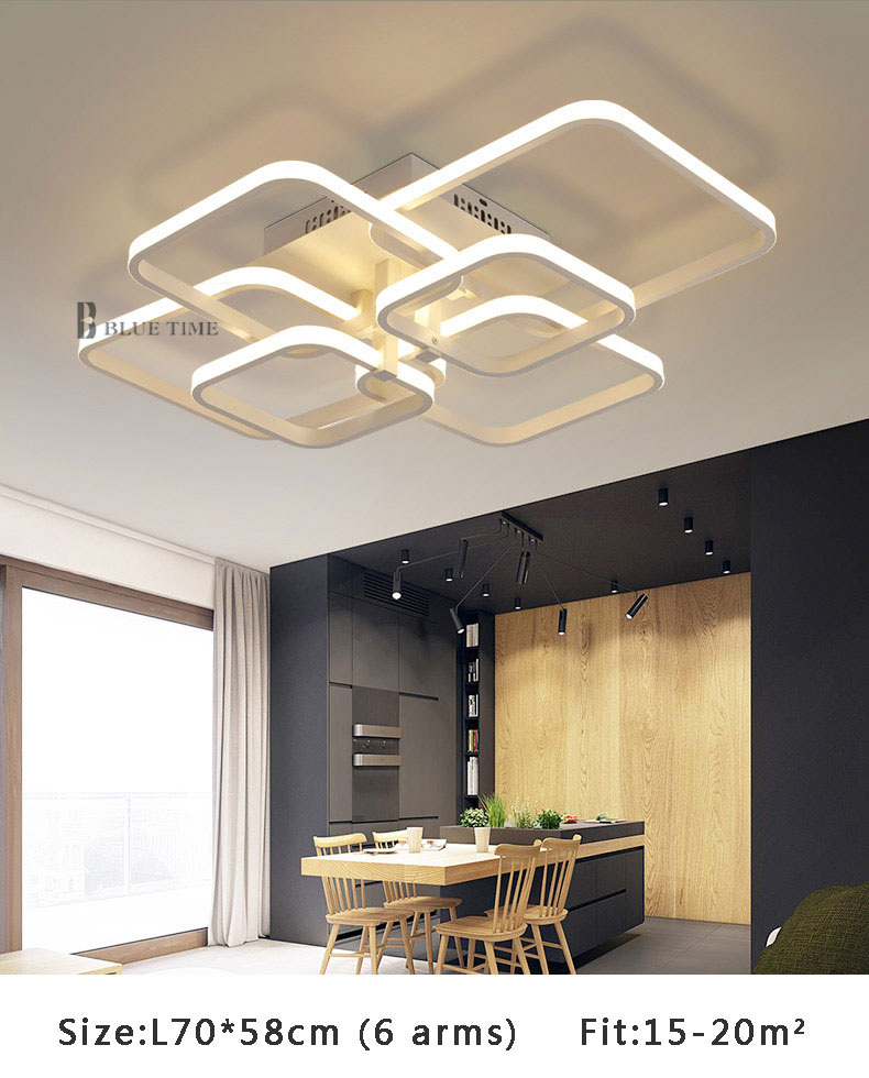 Modern LED Ceiling Light Black&White Chandeliers Ceiling Lamp LED Light Fixtures Living room Bedroom Dining room Kitchen Lustres