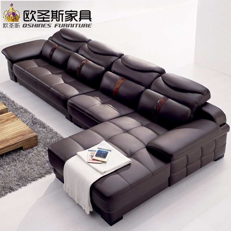 Furniture Exquisite Cheap Living Room Furniture Sets For: New Model L Shaped Modern Italy Genuine Real Leather