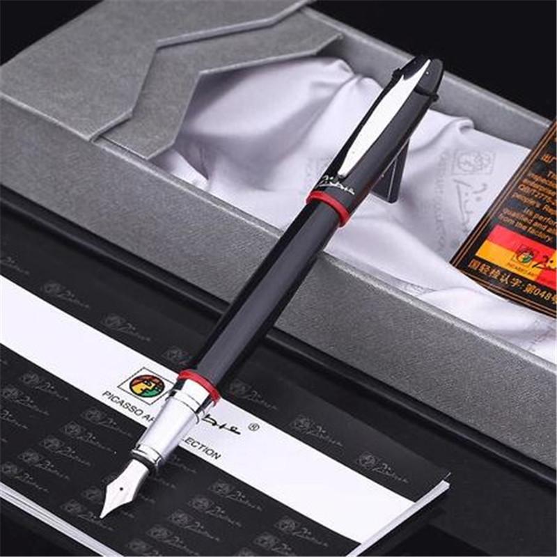 1pc/lot Picasso 907 Fountain Pen Montmartre Pimio 2 Colors Red/Yellow Fountain Pens Student Pen 0.5mm Office Supplies 13.6*1.3cm 1pcs lot free shipping picasso fountain pen 986 pimio picasso pens for women girls gifts 5 colors white red brand pen not box